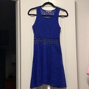 Carbon blue midi dress